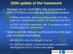 2006 update of the framework