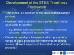 development of the stes timeliness framework