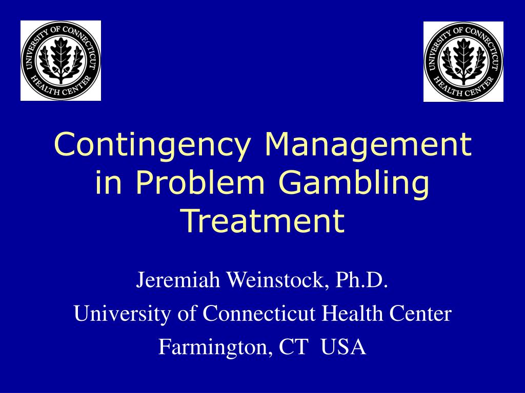 contingency management in problem gambling treatment l.