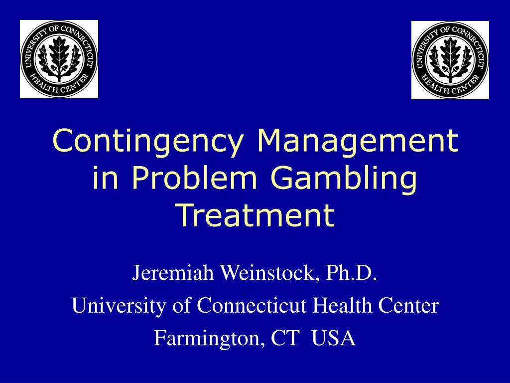 contingency management in problem gambling treatment l.