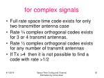 for complex signals