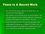 there is a secret work