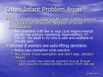 other infant problem areas