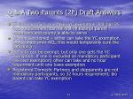 q a two parents 2p draft answers