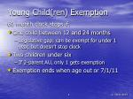 young child ren exemption