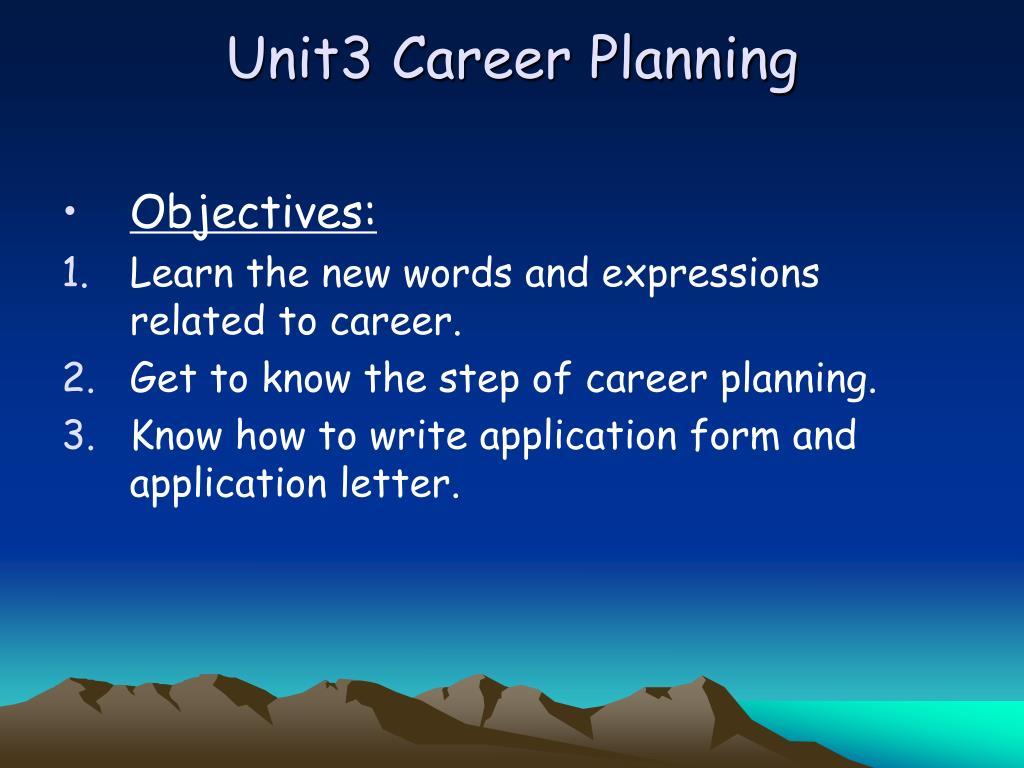 unit3 career planning l.