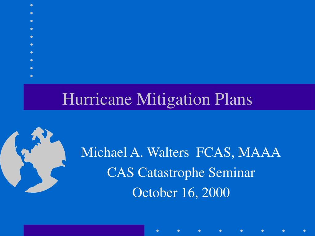 hurricane mitigation plans l.