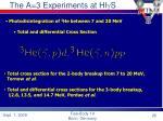 the a 3 experiments at hi g s