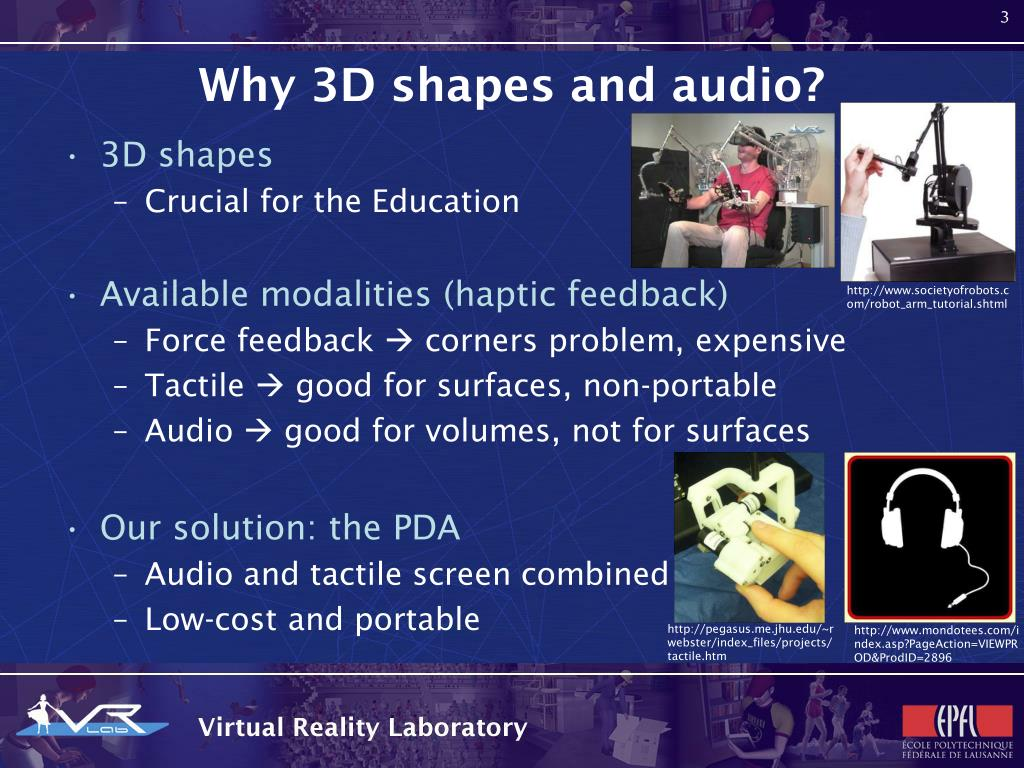 Why 3D shapes and audio?