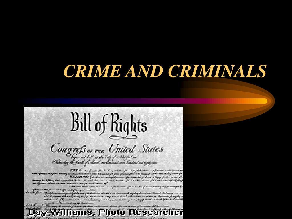 crime and criminals l.