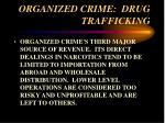 organized crime drug trafficking