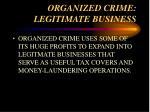 organized crime legitimate business