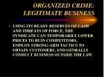 organized crime legitimate business38