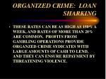 organized crime loan sharking32
