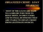 organized crime loan sharking33
