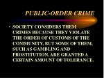 public order crime18