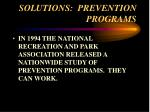 solutions prevention programs