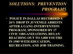 solutions prevention programs61