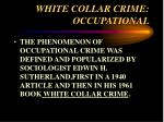white collar crime occupational10