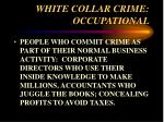 white collar crime occupational11