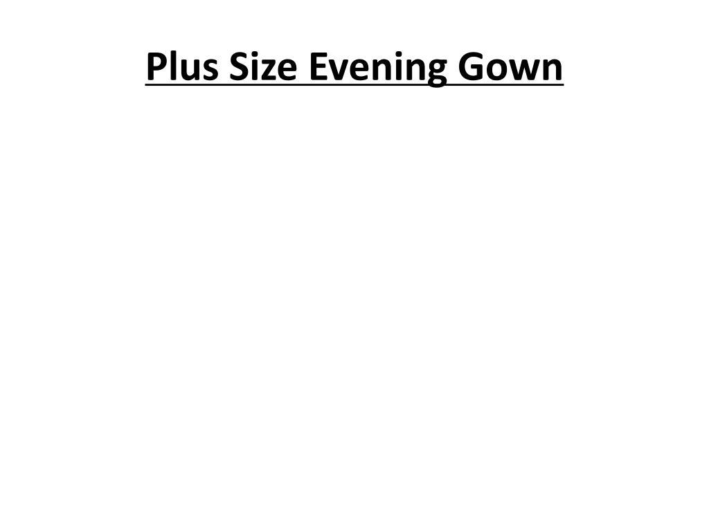 plus size evening gown l.