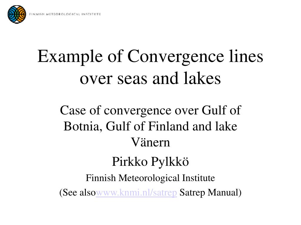 example of convergence lines over seas and lakes l.