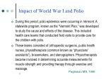 impact of world war i and polio11