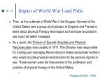 impact of world war i and polio9