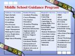 middle school guidance program