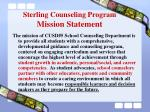 sterling counseling program mission statement