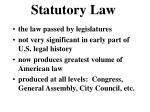 statutory law
