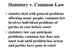 statutory v common law