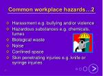 common workplace hazards 2