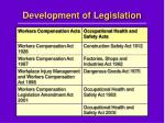 development of legislation