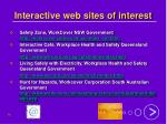 interactive web sites of interest
