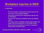 workplace injuries in nsw