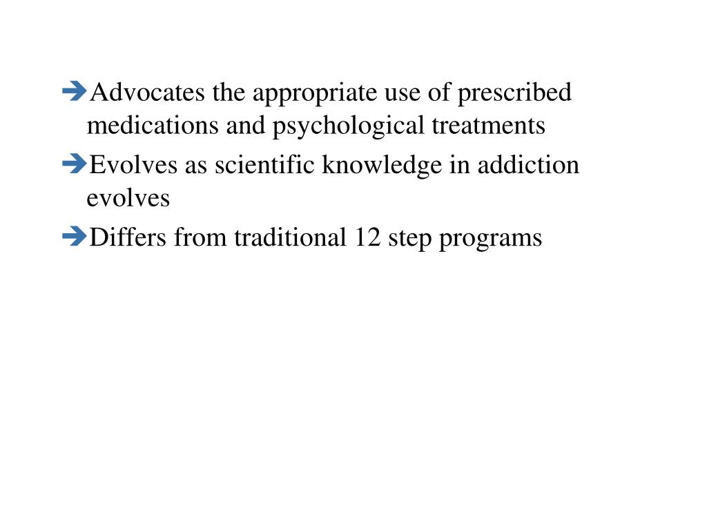 Advocates the appropriate use of prescribed medications and psychological treatments