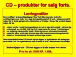 cd produkter for salg forts