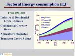 sectoral energy consumption ej
