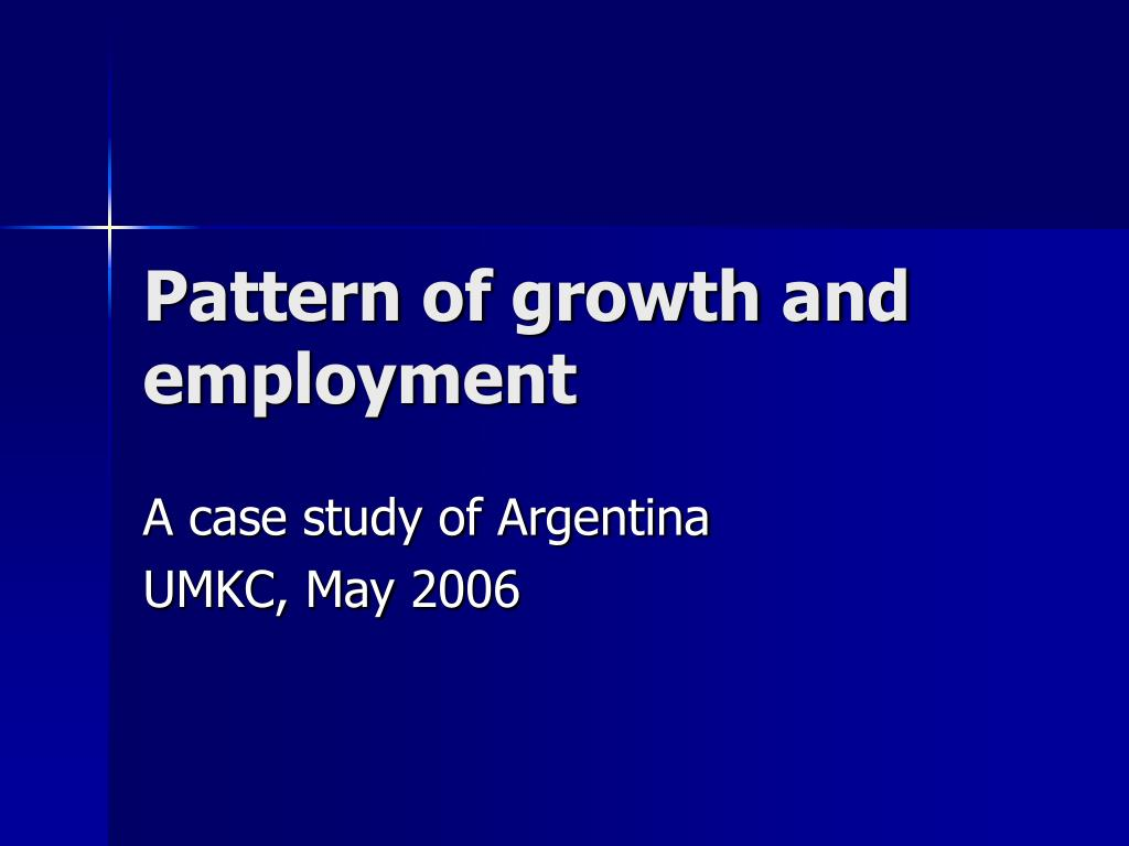 pattern of growth and employment l.