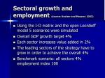sectoral growth and employment source kostzer and mazorra 2003