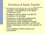 excellence equity together