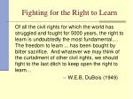 fighting for the right to learn