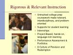 rigorous relevant instruction