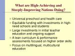 what are high achieving and steeply improving nations doing