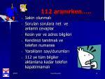 112 aran rken