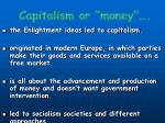 capitalism or money