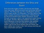 differences between the shia and sunni