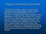 regions historically dominated