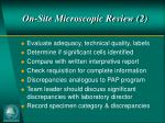 on site microscopic review 2